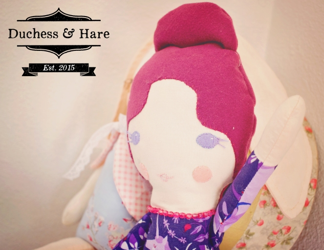 Close up of Duchess and Hare Duchess Doll.