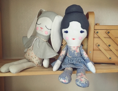 Duchess and Hare Doll Tester Photo
