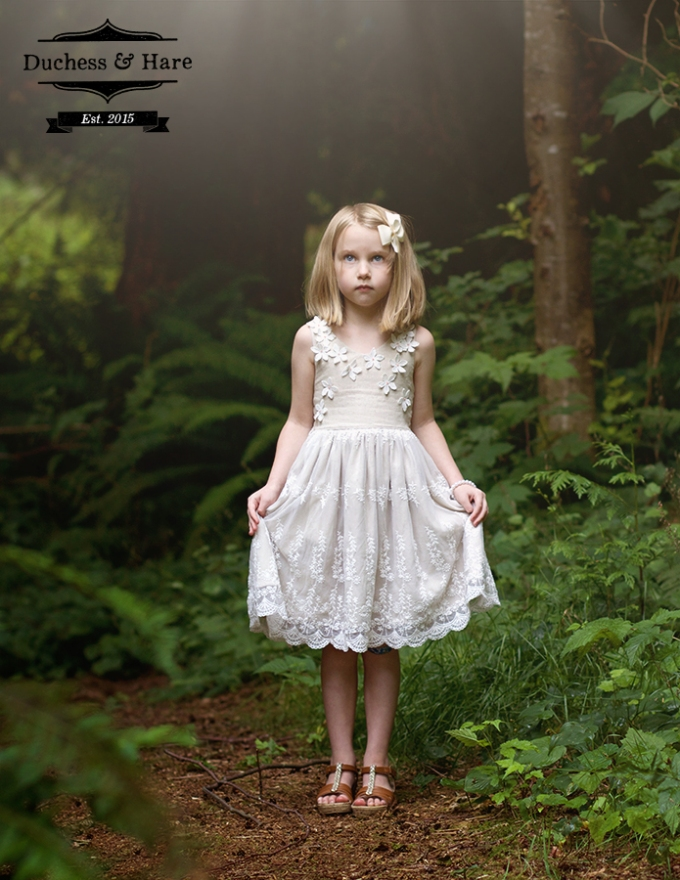 Duchess and Hare Flower Girl Dress