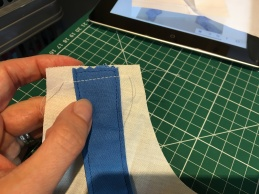 2 Lining up back strap with shoulder