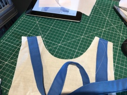 3 Back straps lined up with front bodice shoulder