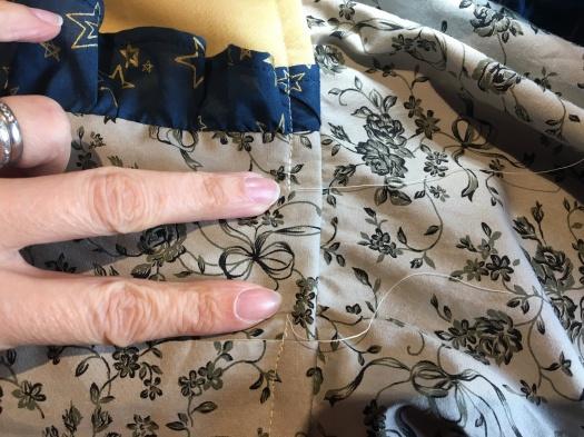 8 Sew bodice up leaving gap for elastic threading
