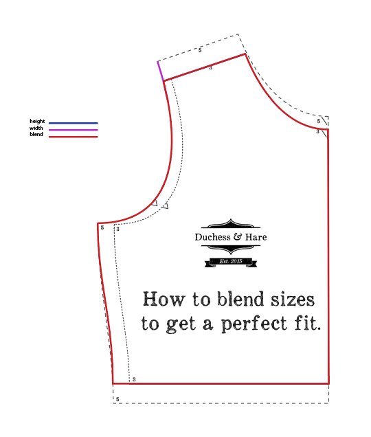 A great tutorial on blending pattern sizes for a perfect fit every time.