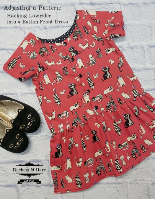 Turn Lowrider into a button front dress. You can use this tutorial on any other pattern you have.
