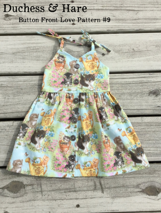 Button Front Sundress in 1 easy modification. All you need is Love Pattern Number Nine.