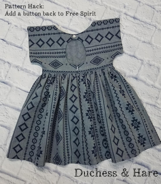 Make your tie back dress button. Learn how to hack the Free Spirit pattern and button up the back.
