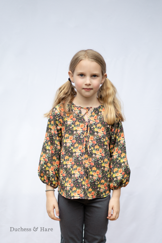 Duchess and Hare peasant top in September Blooms by Hawthorne Supply CO