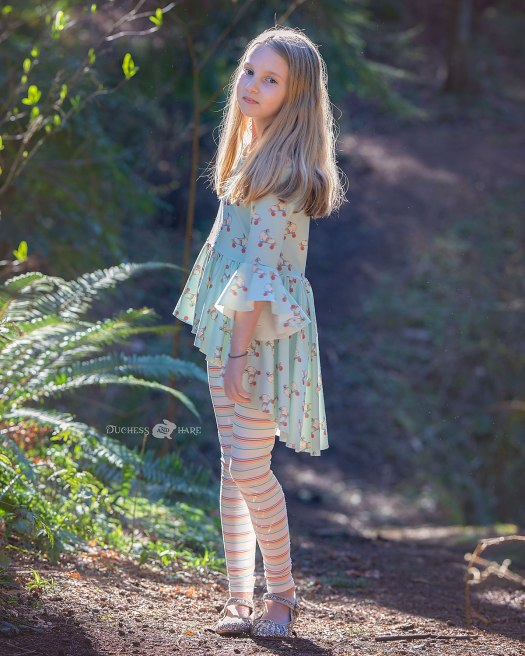 Roundabout Hi Lo Tunic sewing pattern with leggings sewing pattern
